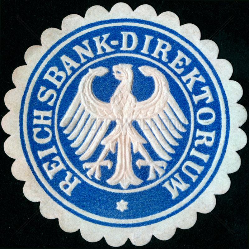 historisches Siegel Reichsbank Direktorium,  um 1925