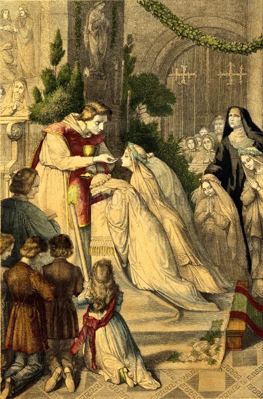 Erstkommunion,  katholisch,  um 1865