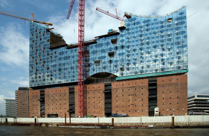 Hamburg,  Deutschland,  Blick auf die Elbphilharmonie