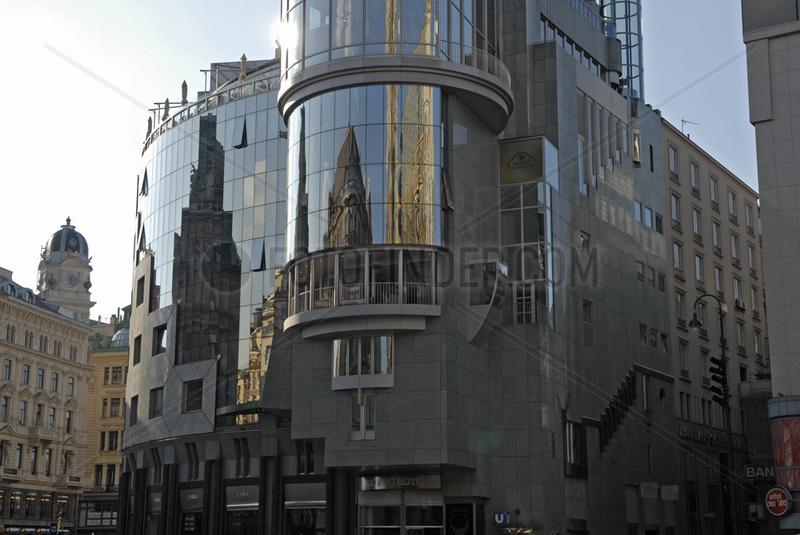 Stephansplatz mit Spiegelungen