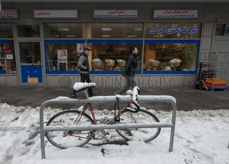 Coffee to go mit Fahrrad