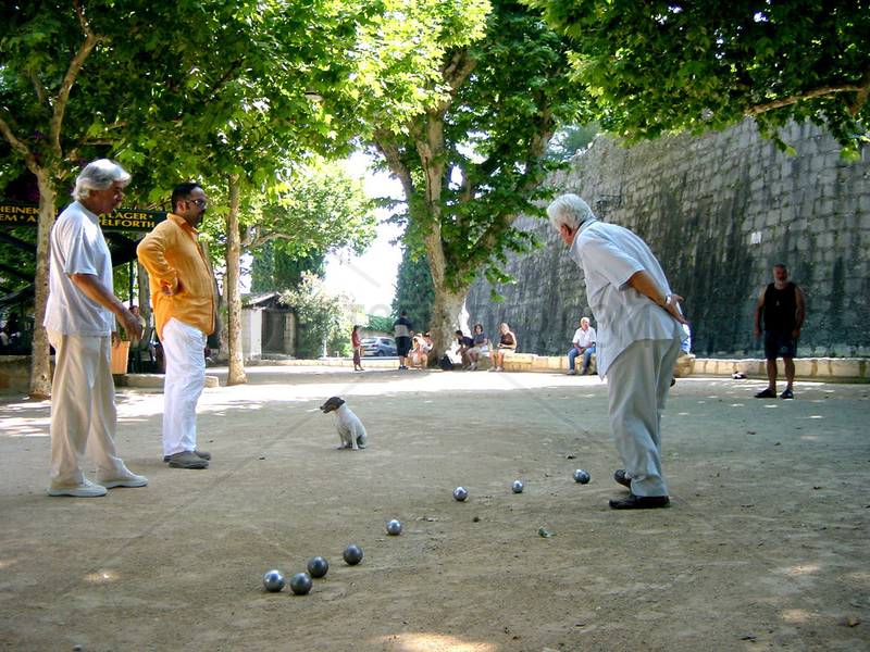 Boule,  der traditionelle Sport in Frankreich