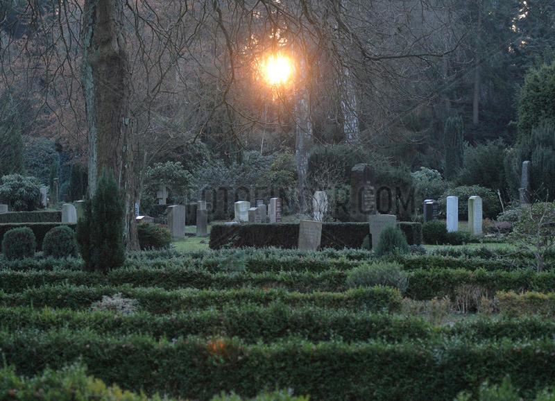 Friedhof im Winter