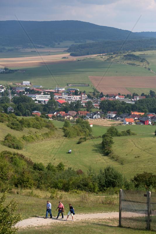 Rasdorf,  Deutschland,  Blick vom Beobachtungsturm auf dem Gelaende der Gedenkstaette Point Alpha