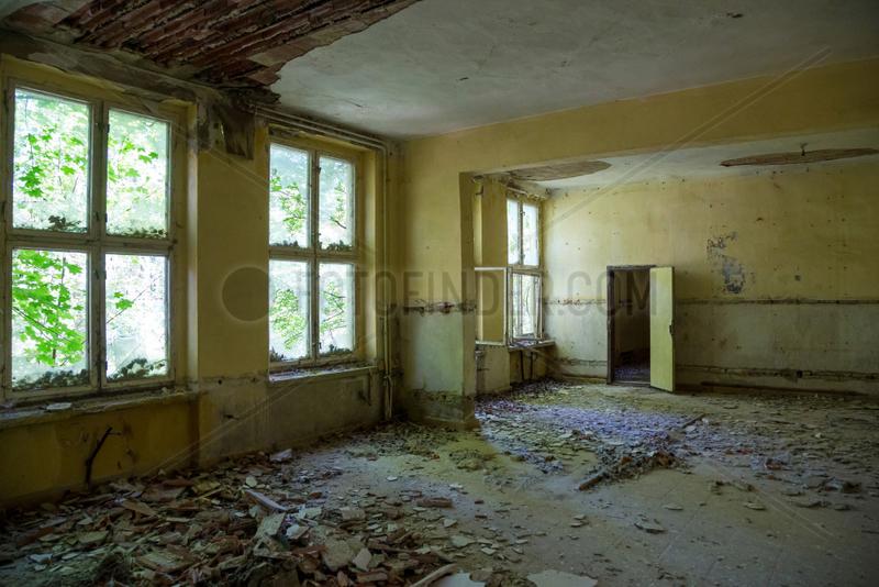 Hillersleben,  Deutschland,  verlassene Kaserne der Roten Armee