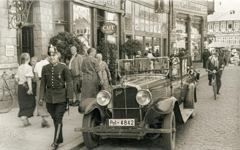 Polizeifahrzeug in Wernigerode,  1930