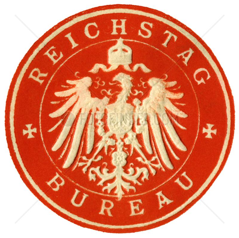Reichstag Bureau,  Amtssiegel,  1890