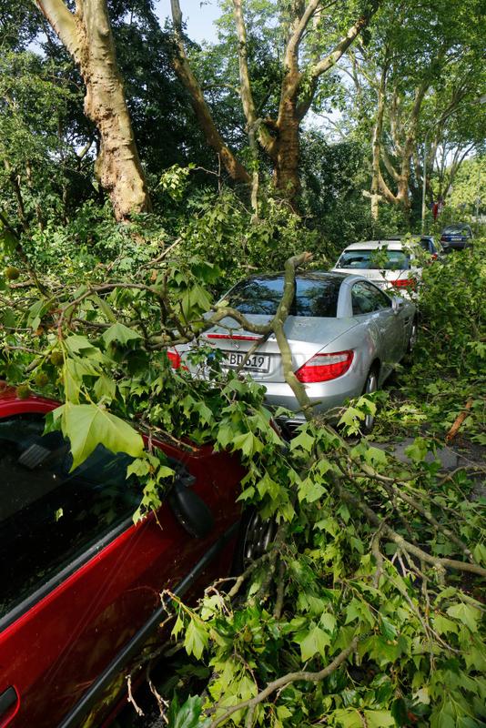 Essen,  Deutschland,  Sturmschaeden bei Unwetter in NRW