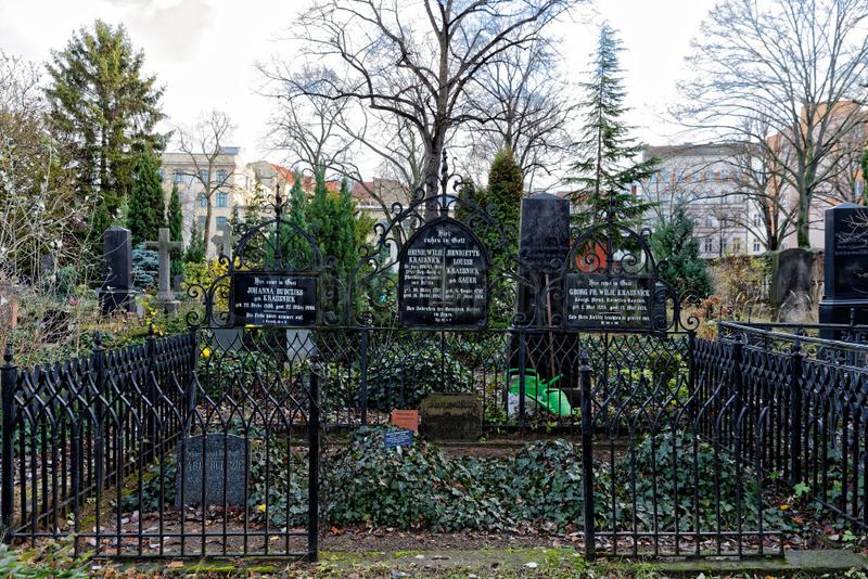 Berlin,  Deutschland,  Grabstaette der Familie Krausnick