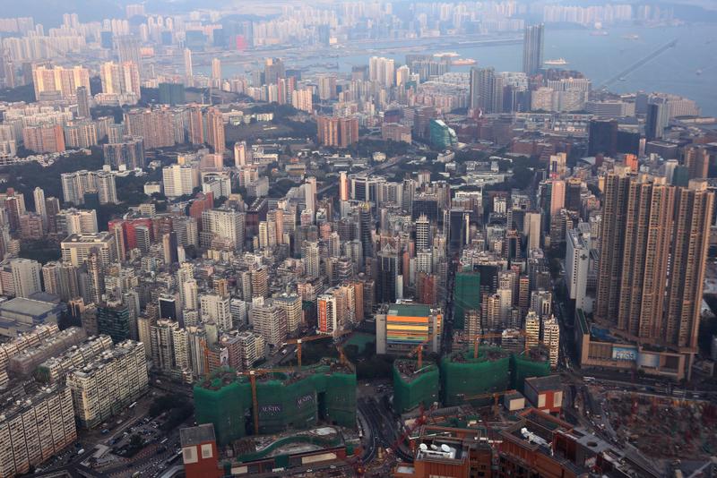 Hong Kong,  China,  Blick auf den Stadtteil Kowloon