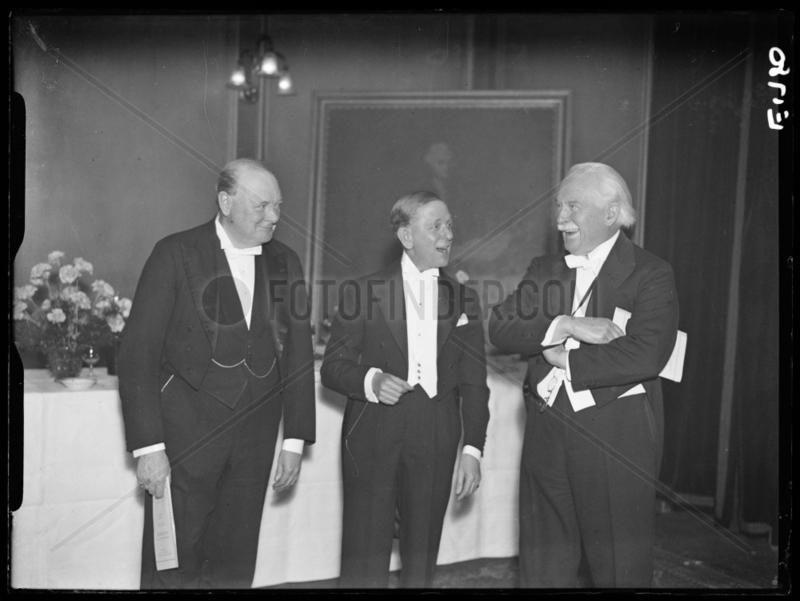 Winston Churchill,  JS Elias and David Lloyd George,  17 December 1934.