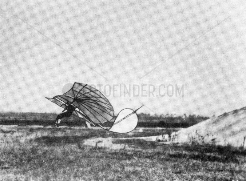 Otto Lilienthal,  German aviation engineer and designer,  c 1895.