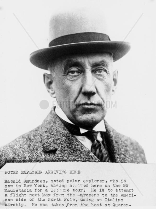 Roald Amundsen,  Norwegian explorer and navigator,  1926.