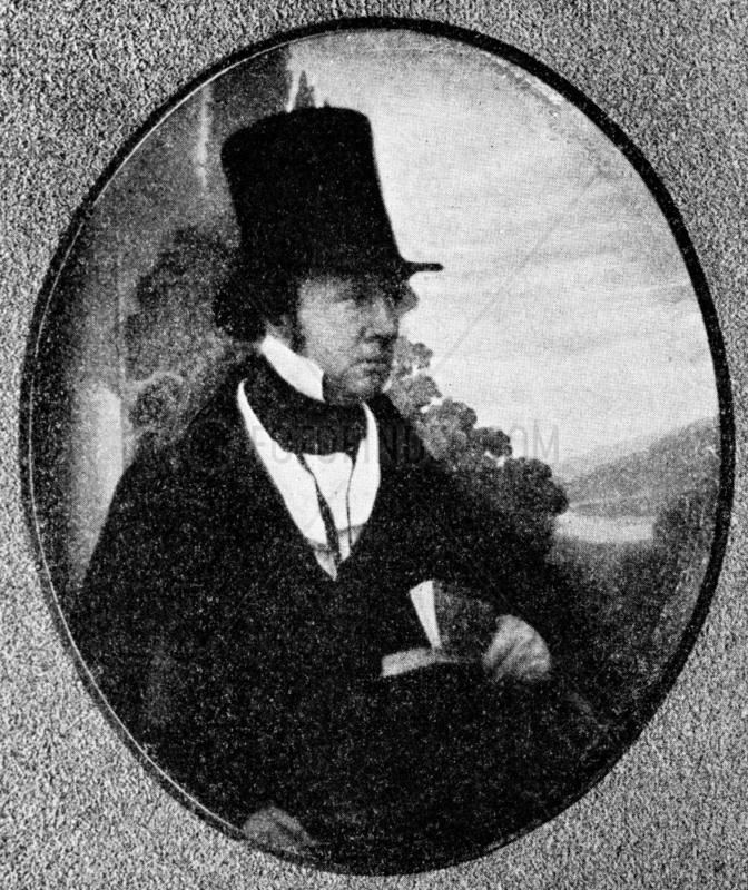 William Henry Fox Talbot,  pioneer photographer,  c 1840.