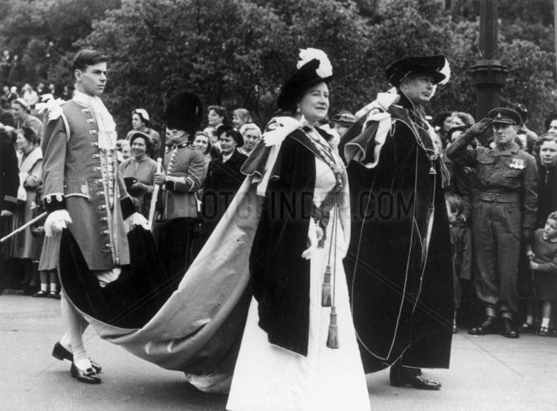 The Queen Mother on official duties,  June 1956.
