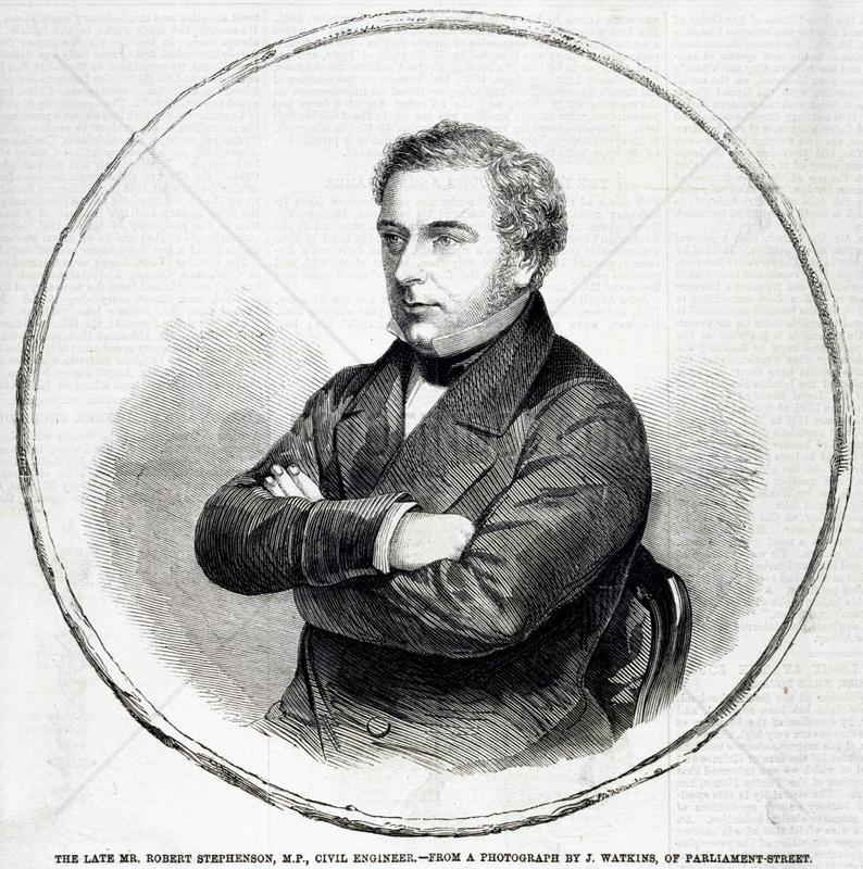 Robert Stephenson,  English mechanical and civil engineer,  c 1850s.