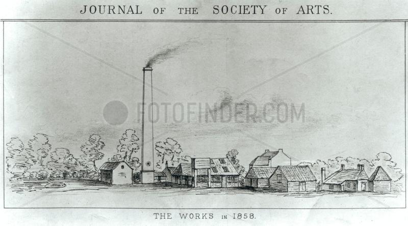 Sir W K Perkin's first dyeworks,  1858.