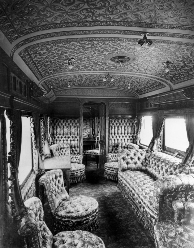 LSWR Royal Saloon interior,  1897.