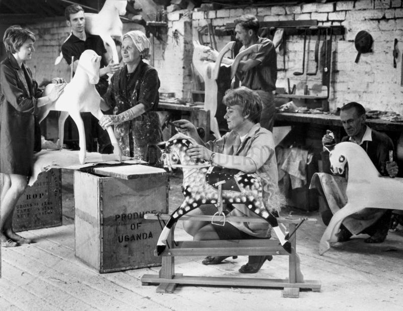 Rocking-horse workshop,  Liverpool,  October 1969.