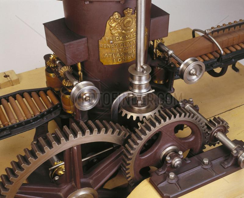 Clayton's brick-making machine,  1860.