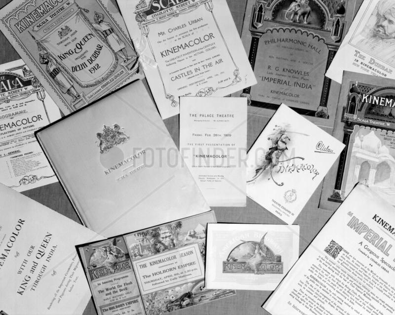 Kinemacolour brochures,  c 1910.