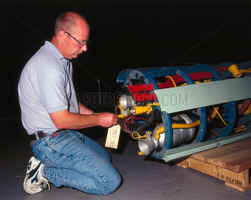 Beta 1 rocket engine,  1947-1951.