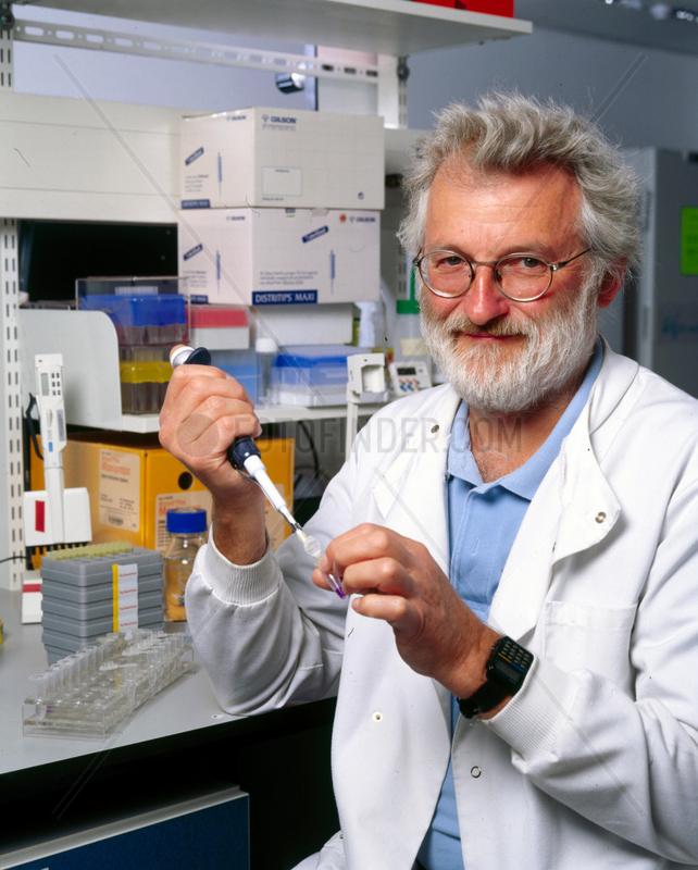 Sir John Sulston,  English pioneering researcher in genomics,  2002.