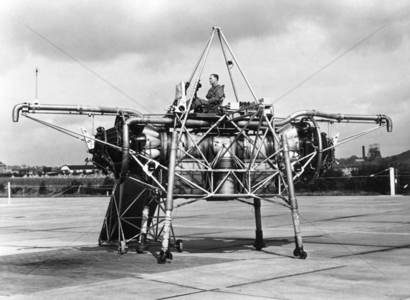 Rolls-Royce VTOL Test Bed,  XJ 314,  (Flying Bedstead),  1954.