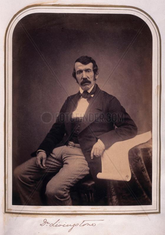 David Livingstone,  missionary and explorer,  c 1840s.
