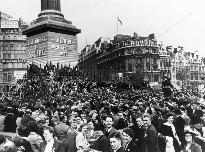 VE Day Celebrations,  8 May 1945. 'A general