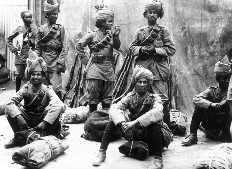 Indian troops ready to leave base camp,  Mid