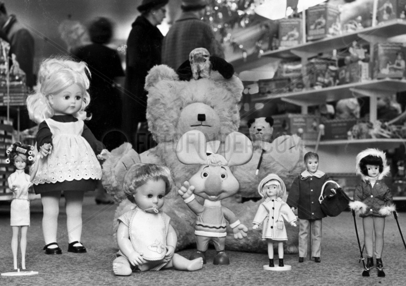 Top ten toys,  Manchester,  November 1965.