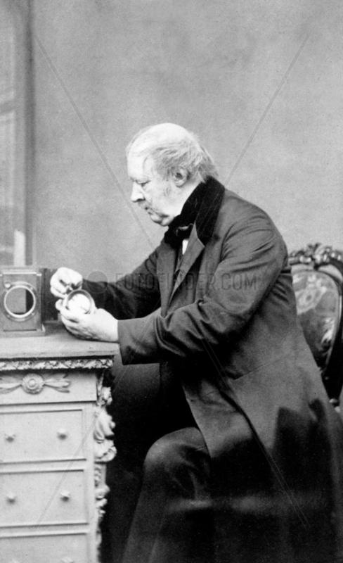 William Henry Fox Talbot,  pioneer photograper,  1860s.