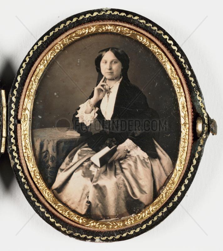 Daguerreotype of a woman,  c 1850.