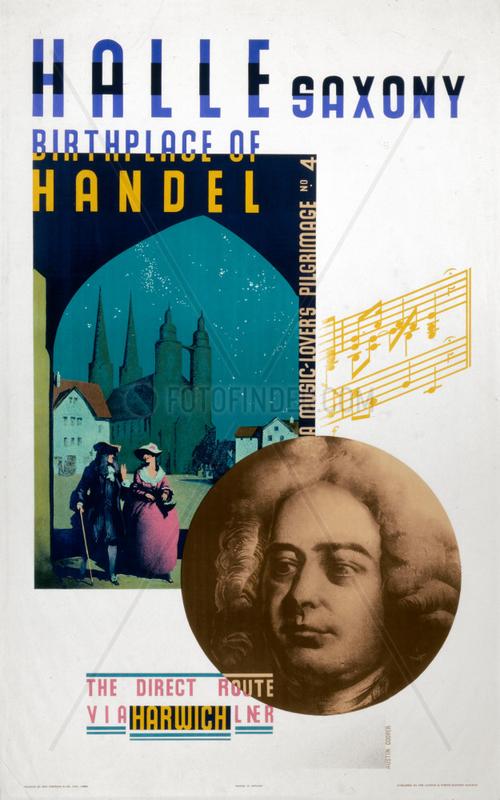 'Saxony,  Birthplace of Handel',  LNER poster,  1931.