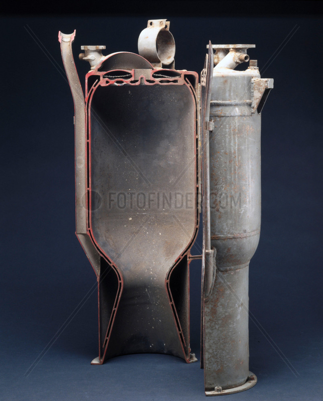 Walter 109-509C rocket engine combustion chamber,  c 1944.