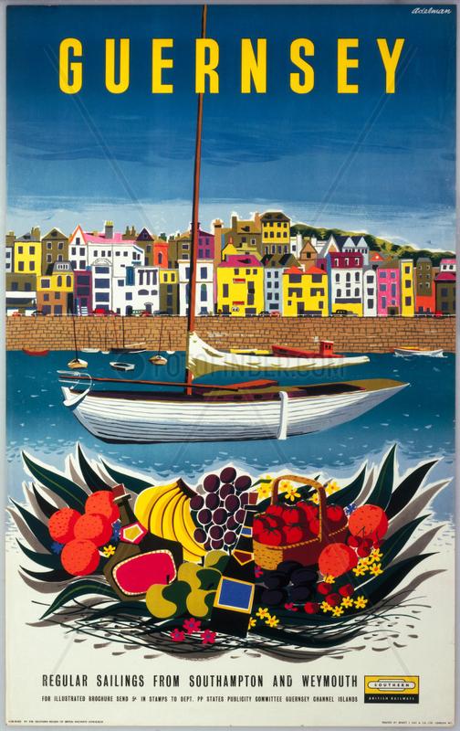 'Guernsey' BR (SR) poster,  1958.