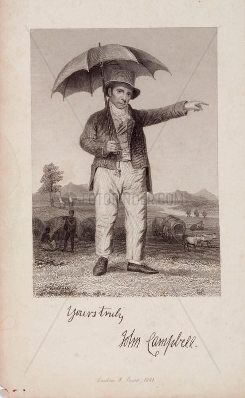John Campbell,  Scottish philanthropist,  c 1820.