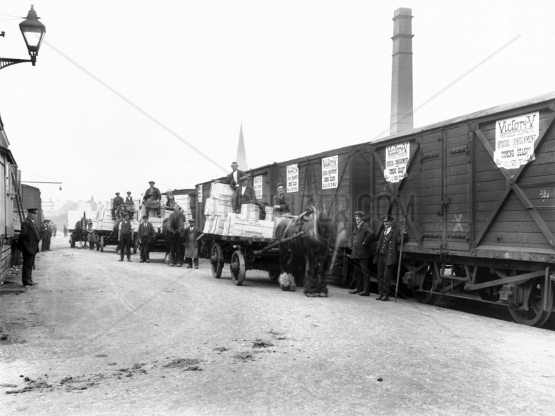 Goods wagons,  c 1900s.