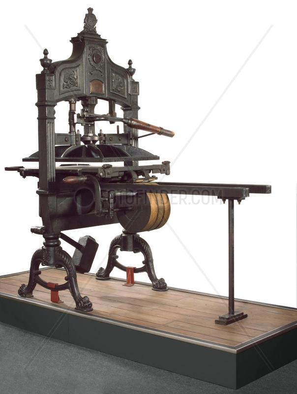 'Britannia' hand printing press,  c 1835.