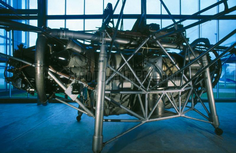 Flying bedstead test rig,  1954.