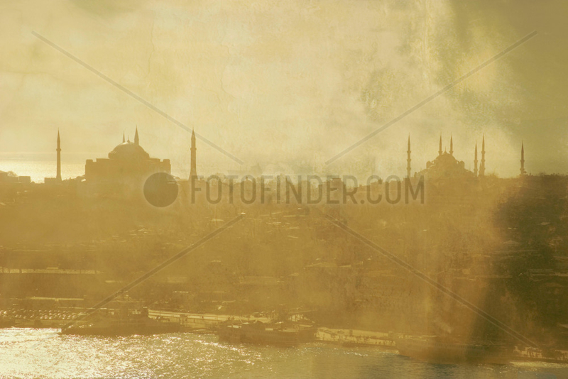 The Eminonu ferry docks seen from the Galata Tower,  Istanbul,  c 2004.