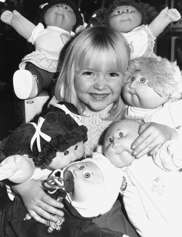 Cabbage Patch Kids,  November 1983.