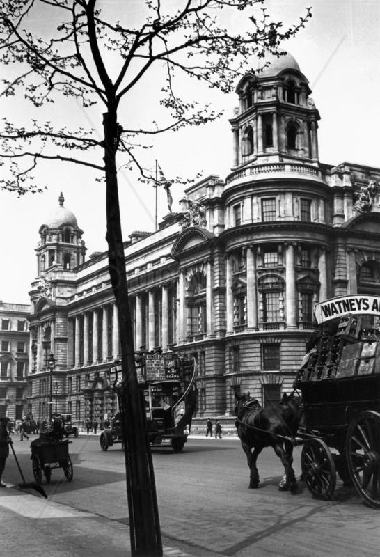 Whitehall in London,  c 1910s.