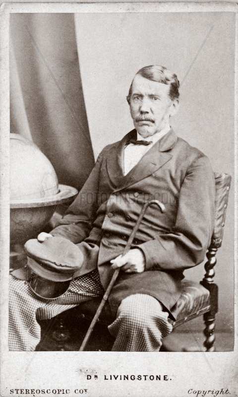David Livingstone,  missionary and traveller,  c 1860s.