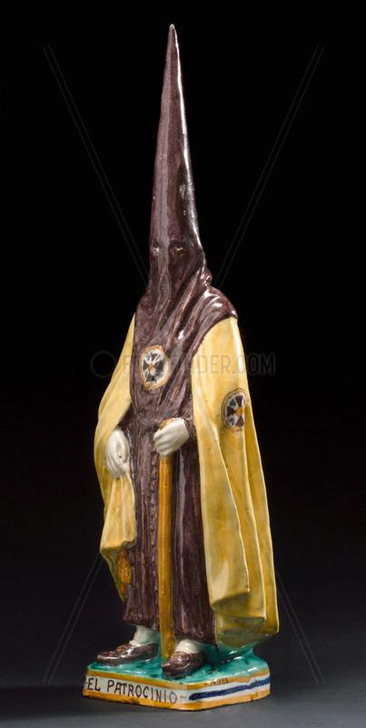 Ceramic statue of Spanish Inquisitor,  Spanish,  1860-1935.