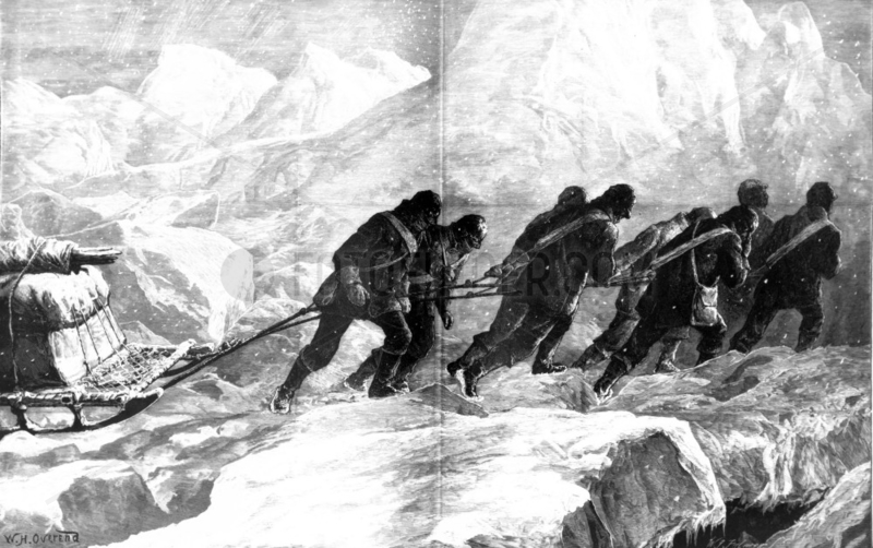 Nares sledge party,  1876.