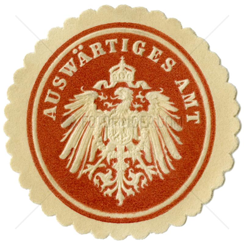 Auswaertiges Amt,  Papiersiegel,  1890