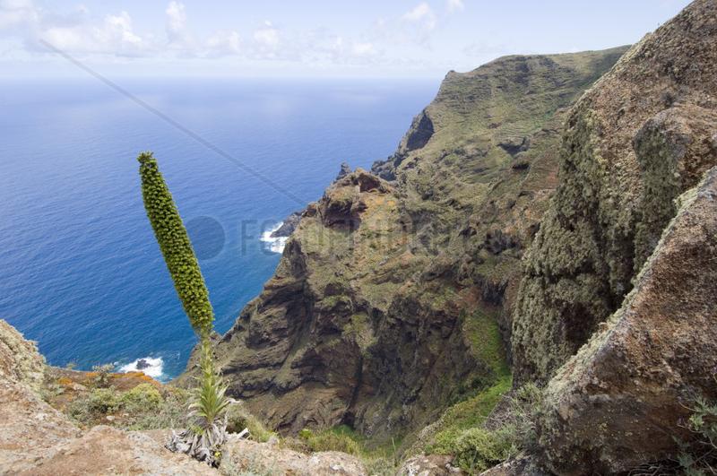 Chinamada,  Spanien,  Blick auf den Atlantik vom Mirador de Aguaide