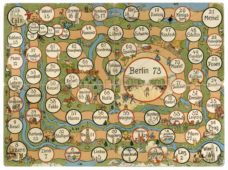 Deutschlandreise,  Wuerfelspiel,  um 1910